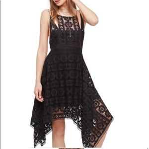 Free People Black Crochet Lace Dress with low back